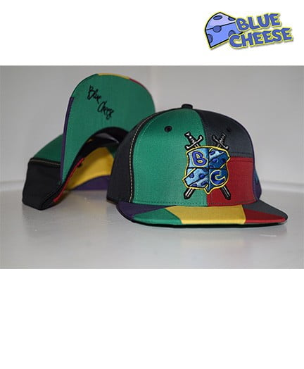 Blue Cheese Gore Text Patchwork Snapback 1