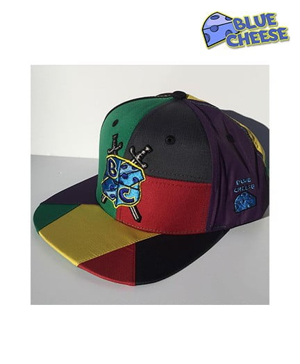 Blue Cheese Gore Text Patchwork Snapback 2