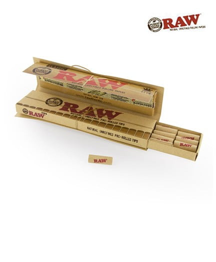 Raw Connoisseur With Pre Rolled Tips Full Box