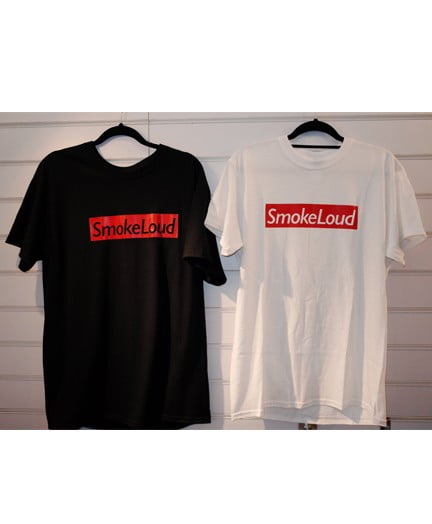 Smokelouduk Box Logo Short Sleeve T Shirt