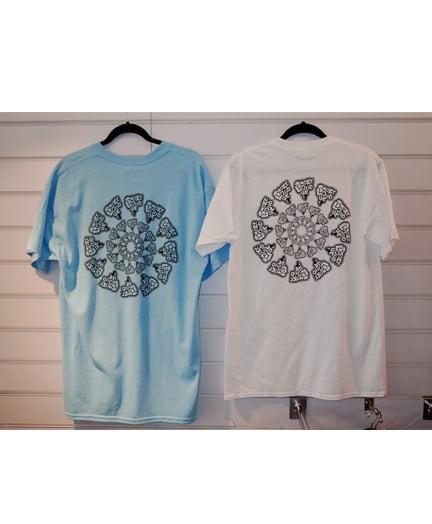 Smokelouduk Og Spiral Short Sleeve T Shirt Blue White Back