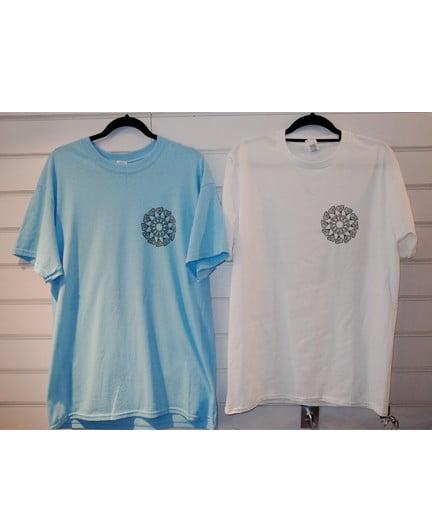 Smokelouduk Og Spiral Short Sleeve T Shirt Blue White Front