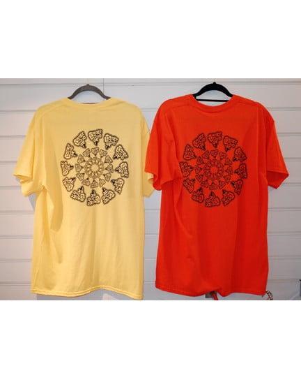 Smokelouduk Og Spiral Short Sleeve T Shirt Yellow Red Back