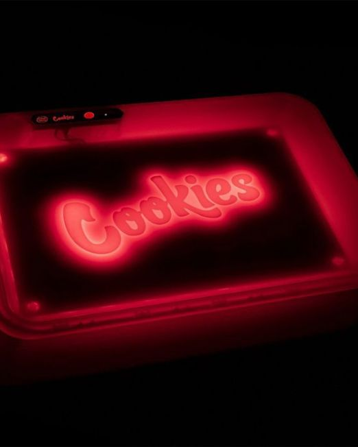 Red Cookies Glow Rolling Trays Light