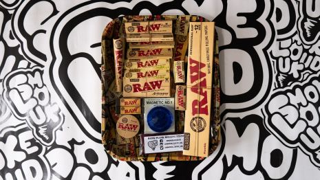 RAW papers Rolling Tray Bundle