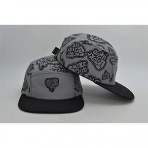 Grey Og 5 Panel Front & Back Side
