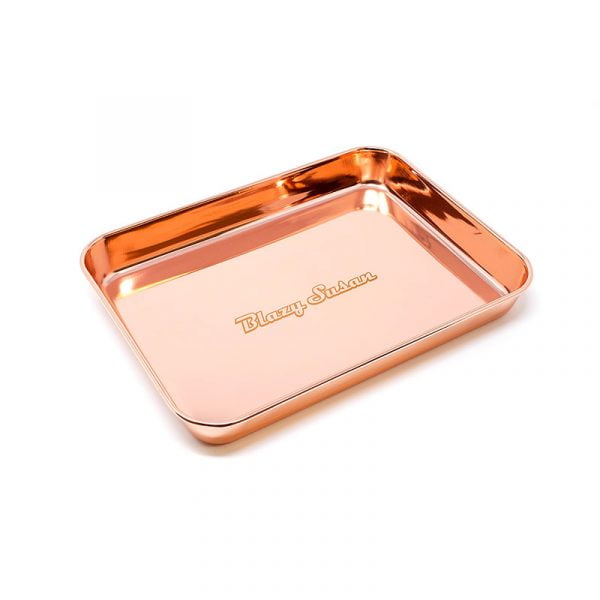 blazy rolling tray stainless steel rose gold 1